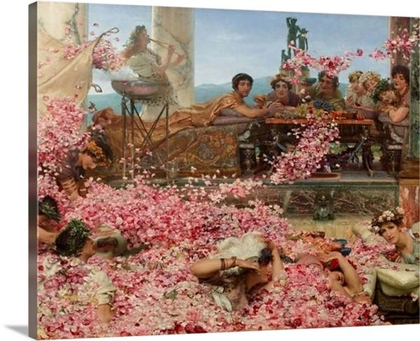 the roses of heliogabalus 1888 by sir lawrence alma tadema the roses of heliogabalus sir lawrence alma tadema canvas print classic art wall art print