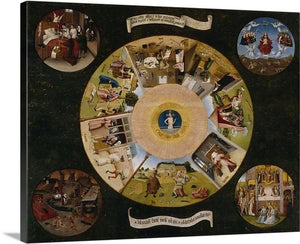 the seven deadly sins 1480 by hieronymus bosch the seven deadly sins hieronymus bosch canvas print classic art wall art print