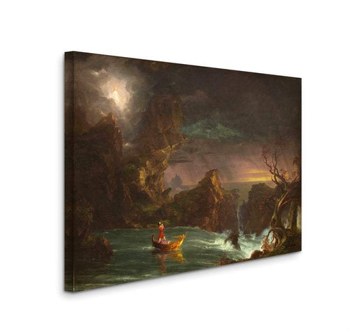 thomas cole the voyage of life 1842 complete set of 4 canvas gallery wrapped giclee wall art print d4060