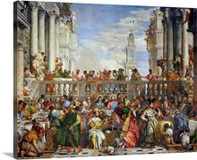 Load image into Gallery viewer, the wedding at cana 1563 by paolo veronese the wedding at cana paolo veronese canvas print classic art wall art print
