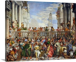 the wedding at cana 1563 by paolo veronese the wedding at cana paolo veronese canvas print classic art wall art print