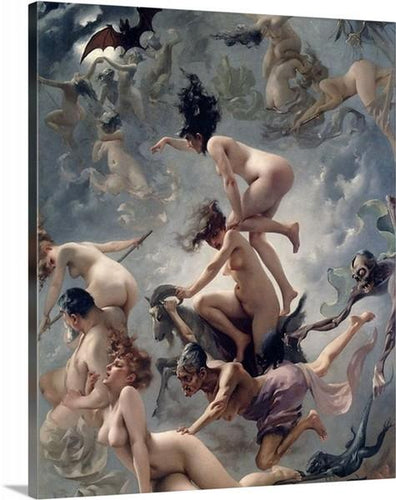 the witches sabbath 1878 by luis ricardo falero the witches sabbath luis ricardo falero canvas print classic art wall art print