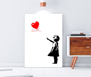Banksy, balloon Girl wall art, Banksy Street Art Graffiti, Balloon girl