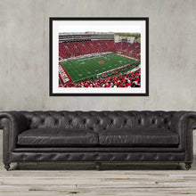 Load image into Gallery viewer, Wisconsin Badgers Camp Randall Stadium football Stadium wall art framed, Football Art, Madison, Wisconsin, Gift, Poster
