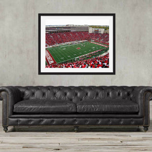 Wisconsin Badgers Camp Randall Stadium football Stadium wall art framed, Football Art, Madison, Wisconsin, Gift, Poster