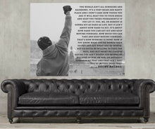 Load image into Gallery viewer, Rocky Balboa, rocky balboa quote speech, Inspirational Quote Print, Motivational, Movie poster,Boxing
