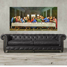 Load image into Gallery viewer, last supper wall artwork,The Last Supper, Jesus, Leonardo da Vinci, Da Vinci, the last supper canvas, last supper print, Christmas gift
