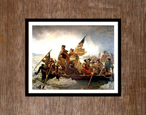 George Washington, wall art, Framed art, Washington crossing, Washington, Washington crossing the Delaware, patriotic, revolutionary war