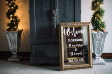 Load image into Gallery viewer, Wedding welcome mirror sign, Welcome Wedding Sign Mirror, Wedding Welcome Mirror, Welcome Sign, Welcome Mirror Sign, Custom mirror sign