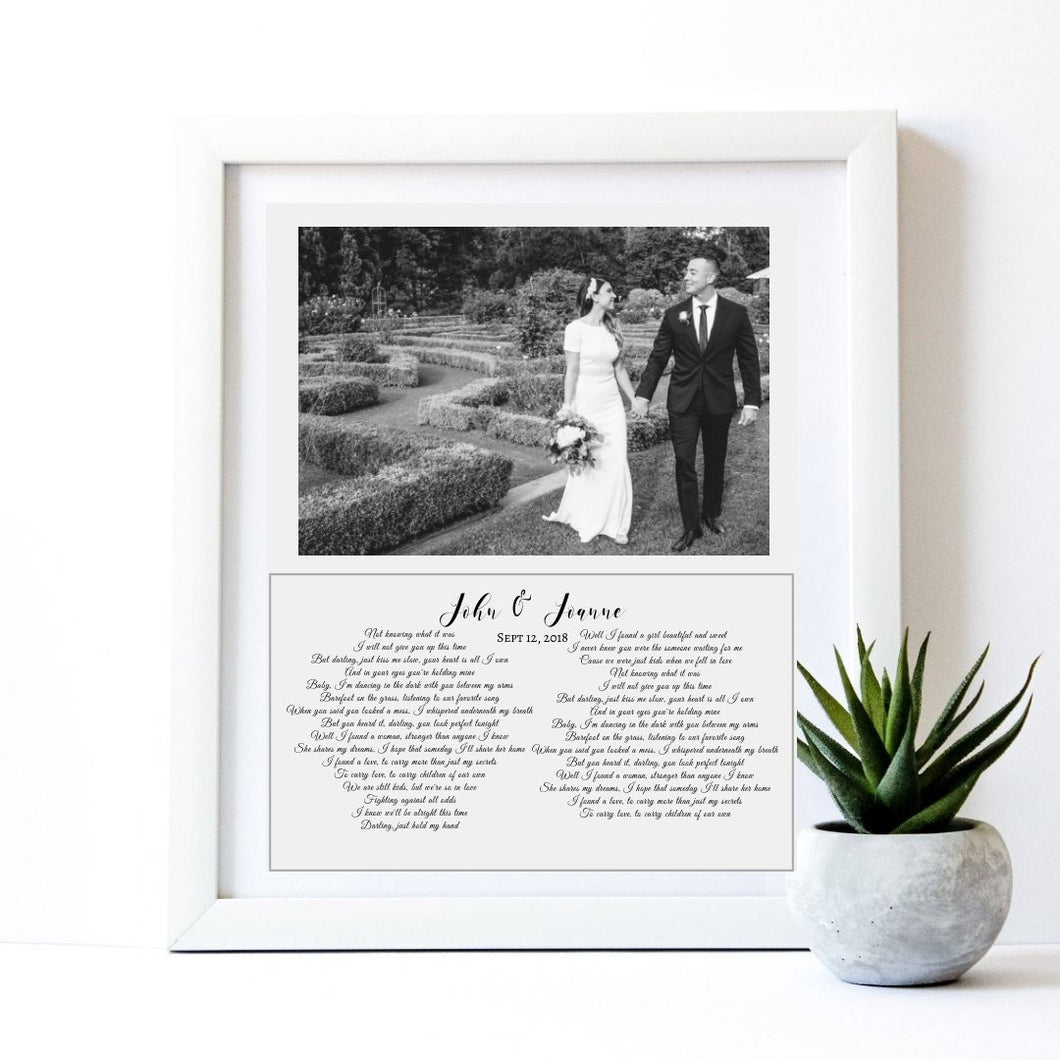 wedding vow art, wedding vows, Framed custom quote print, Custom sign print, custom personalized, anniversary gift, mindfulness gift, Poster