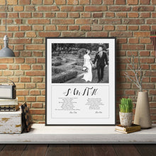 Load image into Gallery viewer, wedding vow art, wedding vows, Framed custom quote print, Custom sign print, custom personalized, anniversary gift, mindfulness gift, Poster