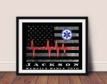 Load image into Gallery viewer, Thin Blue Line, Police officer gift, Framed gift, Police Wife, Police Mom, Framed retirement gift, Police academy, police officer gifts