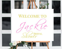 Load image into Gallery viewer, Wedding Welcome sign, Bridal shower, Welcome sign, Welcome wedding sign, Wedding decor, Bridal shower sign, Wedding, Poster