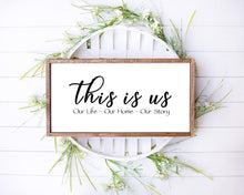 Load image into Gallery viewer, Custom Quote Signs, Custom Personalized Wood Sign, Custom Verse Wood Signs, Lyrics, Personalized Wedding Gift, Modern Rustic Farmhouse Decor