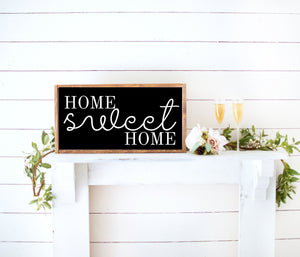 home sweet home farmhouse decor wood sign, framed personalized farmhouse signs, inspirational art, home wall art
