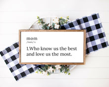 Load image into Gallery viewer, Custom Quote Print, farmhouse sign, wood framed sign, home wall decor, farmhouse wall decor, home sign, family name sign, Custom Quote Sign