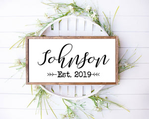 Wood sign | last name sign | family name sign | wedding gift | housewarming gift | established wood sign | family name established sign