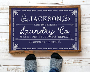 Laundry room wood sign Personalized wall art,  Rustic Wood Laundry Room Sign, Wash Dry Fold Laundry Sign, Laundry room signs, Laundry sign