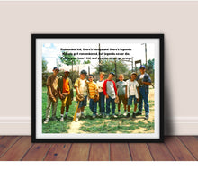 Load image into Gallery viewer, Sandlot movie poster, Inspirational Sandlot Movie quote, Baseball gift, Sandlot, Movie poster, wall art framed, Ledge