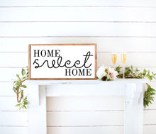 Load image into Gallery viewer, home sweet home farmhouse decor wood sign, framed personalized farmhouse signs, inspirational art, home wall art