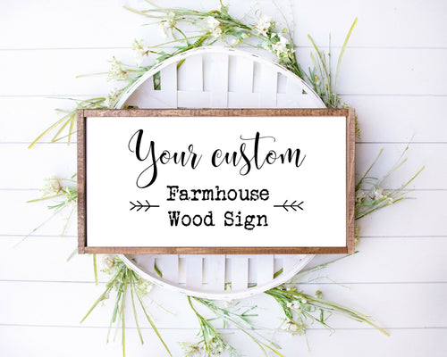 Farmhouse wood sign wall decor for rustic home decor personalized custom wood signs