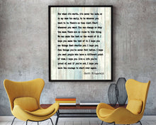 Load image into Gallery viewer, F Scott Fitzgerald Quote, For What It's Worth,Inspirational courage print, F Scott Fitzgerald, inspirational print, inspirational gift