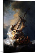 Load image into Gallery viewer, Rembrandt Christ In The Storm On The Sea Of Galilee Wall Art print, Rembrandt, Framed art, Home Decor, Rembrandt art, Rembrandt print