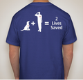 Basic Tee - 2 Lives Saved Unisex (Navy)