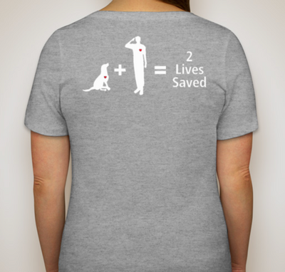 2 Lives Saved Women's Relaxed Fit V-Neck Shirt