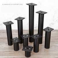 4Pcs  H6-30cm Adjustable Furniture Replacement Legs, Aluminum Alloy Support Feet Cabinet Sofa Tv Cabinet Legs Silver/Black