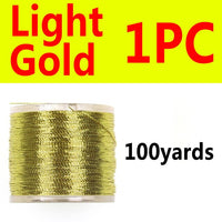 Wifreo 100 yards/spool Metallic Guide Rod Building Wrapping Fishing Line Thread Strong Nylon Fibers Nymph Midge Jig Hook Tying
