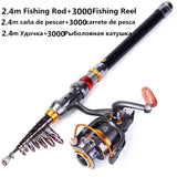 1.8-3.6m Telescopic Fishing Rod and 11BB Fishing Reel Wheel Portable Travel Fishing Rod Spinning Fishing Rod Combo