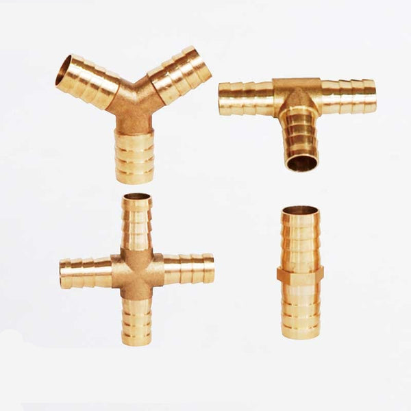 Brass Barb Pipe Fitting 2 3 4 way brass connector For 4mm 5mm 6mm 8mm 10mm 12mm 16mm 19mm hose copper Pagoda Water Tube Fittings