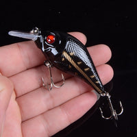 1pcs 7.5cm 10.2g Hard VIB Lures Fishing Minnow Bait Treble Hooks Sinking Crankbait Wobblers Fishing Tackle 3DEyes