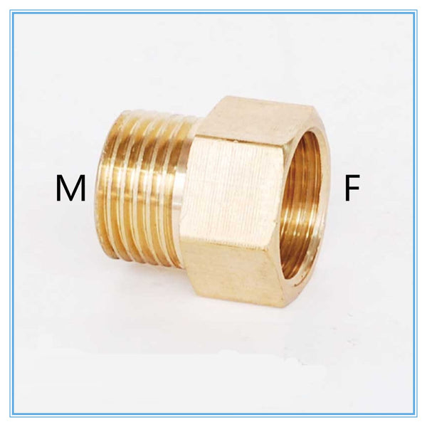 "Copper M/F M14*1.5, M20*1.5, 1/4"", 1/2"" Male  to Female Threaded Brass Coupler Adapter Brass Pipe Fitting"