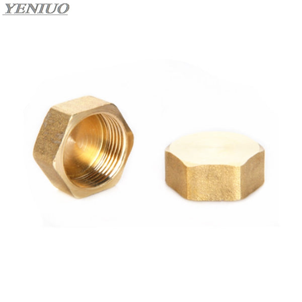 "1/8"" 1/4"" 3/8"" 1/2"" 3/4""BSP Female Thread Brass Pipe Hex Head Brass End Cap Plug Fitting Coupler Connector Adapter"
