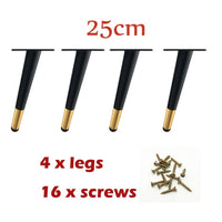 Oblique Metal Black-gold Furniture Legs for Television Cabinet Counter Foot Chair Leg Sofa Tea Coffee Table Legs Hardware Foot