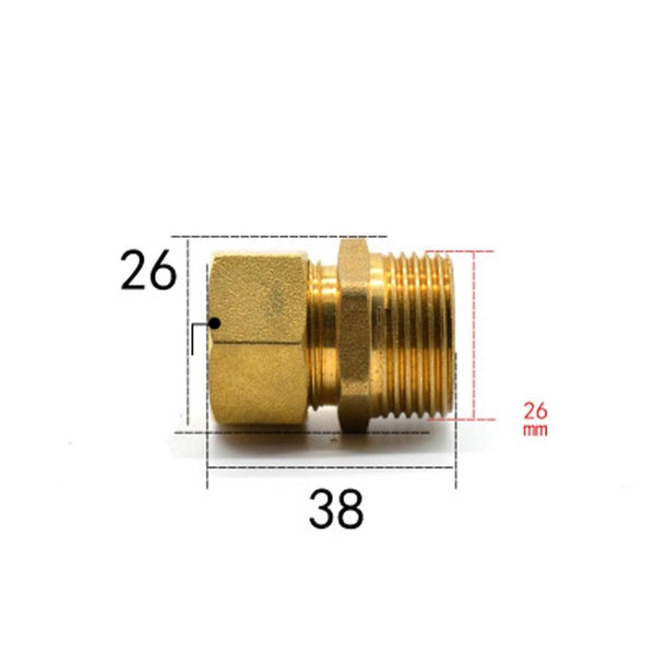 "Fit 14/18mm ID/OD PEX-AL-PEX Tube x 3/4"" BSPP Male Brass Pipe Fitting Coupling Connector Adapter"