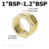 Brass Hex Bushing Reducer Pipe Fitting 1/8 1/4 3/8 1/2 3/4 F to M Threaded Reducing Copper Water Gas Adapter Coupler Connector