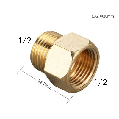 "1/8"" 1/4"" 3/8"" 1/2"" Male to Female Thread Brass Pipe Connectors Brass Coupler Adapter Threaded Fitting"