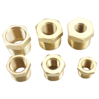 "1/4"" 3/8"" 1/2"" 3/4"" NPT BSPT Male x Female Bush Reducing Bushing Brass Pipe Fitting Water Gas Oil Fuel"