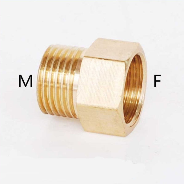 "Copper M/F 1/8"",1/4"",3/8"",1/2"" Male  to Female Threaded Brass Coupler Adapter Brass Pipe Fitting"