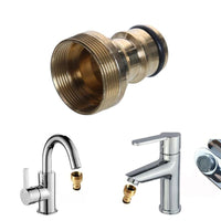 Brass M22 M24 Thread Hose Water tube Connector Tap Snap Adaptor Fitting Garden Quick Connector