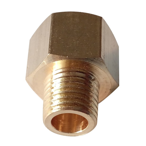 "BSP-NPT Adapter 1/8"" Male BSPT to 1/8"" Female NPT Brass Pipe Fitting Euro to US Pressure Gauge Adapter"