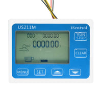 "US211M Digital Flow meter Display with USC-HS83TA G3/8"" Brass Flow Meter Totalizer Flow Measurement 1-20L/min"