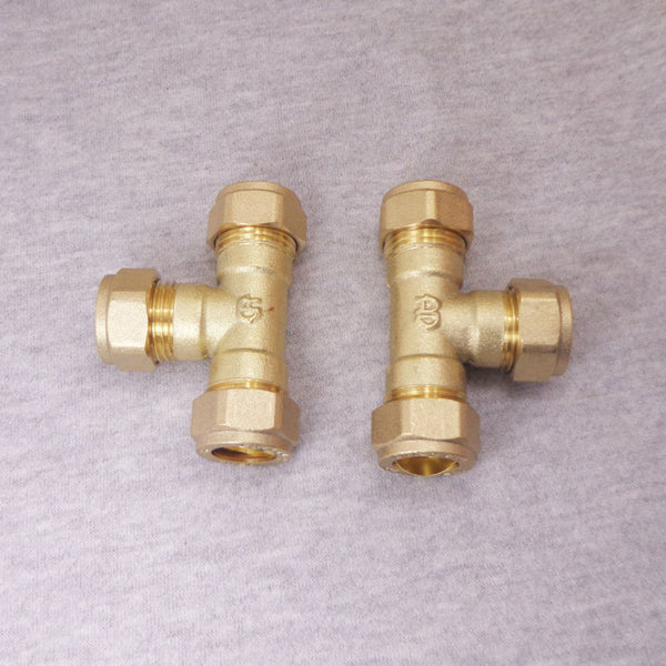 15*15*15mm Compression Fitting TEE for 15mm Outer Diameter Copper Pipe