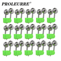 5pcs/Lot Bite Alarms Fishing Rod Bells Tackle Accessory Rod Clamp Tip Clip Metal Bells Ring Green ABS Plastic Outdoor Tools