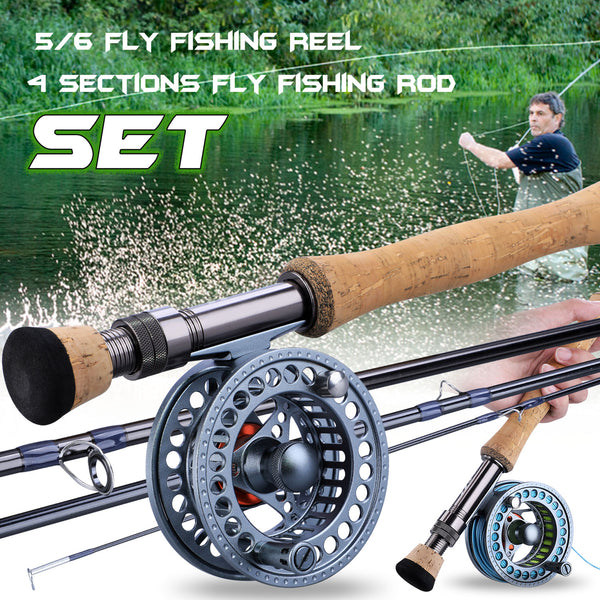 2.7m Fly Fishing Rod Combo Ultralight Fly Rods and 5/6 7/8 CNC-machined Aluminum Fly Fishing Reel Set Fishing Tackle