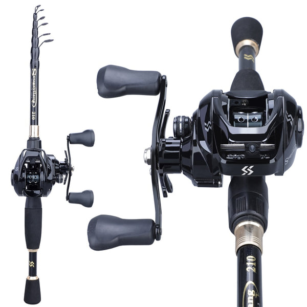 1.8-2.4m Telescopic Casting Fishing Set Portable Ultralight  Rod and 12+1BB 7.2:1 High Speed Gear Ratio Fishing Reel