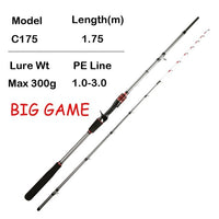 Fishing rod for Casting Slow Jigging Rod PE 0.6-1.5 light Jigging rod Solid tip Rubber Tail Octopus Fishing Rod High Quality